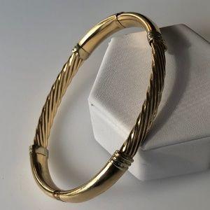 14k Solid Gold Bangle